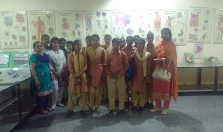 Students from GSSS Kherla,on visit to PIHS